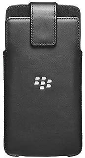 BlackBerry OEM Genuine Leather With Swivel Holster Clip Case For BlackBerry DTEK60 - Black