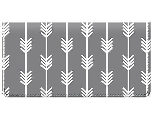 Funda para Libro de cheques con Monograma Personalizado, Color Azul Claro, Multi Color (Negro Blanco), Talla única