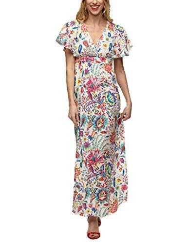 Naf Naf Kenr51d Vestido, Multicolor (Imprimé 487), 42 para Mujer