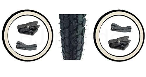 2x Continental Weißwand Reifen 2 1/4 x19 + 2x Schläuche + 2x Felgenband für Simson SR2, NSU, Kreidler, Zündupp