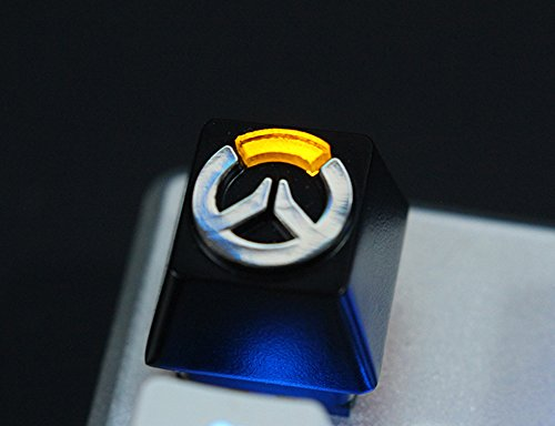 All Decor Overwatch Theme Keycaps Hand-Engraved Embossment Translucidus Backlit Key caps for Mechanical Keyboards (Cherry switches) Case (Overwatch)