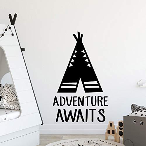 Pegatinas de decoración de aventuras divertidas para habitación de los niños accesorios de decoración a prueba de agua pegatinas de pared autoadhesivas A5 43x71cm
