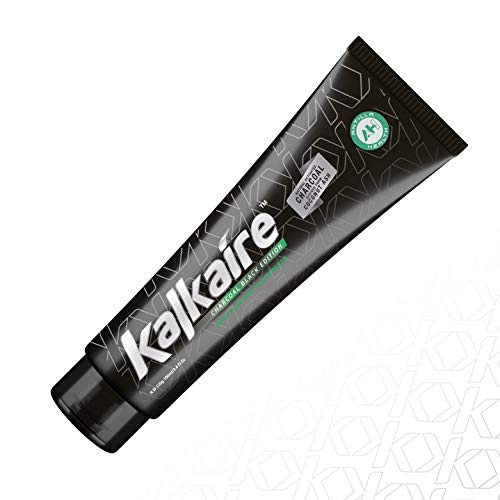 AH Kalkaire - Carbone attivo Carbone di bambù Carbone nero - Dentifricio sbiancante per denti sensibili - Dentifricio sbiancante Dentifricio senza fluoro - sbiancante naturale - Aroma alla menta