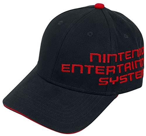 Nintendo Herren Casual Baseballcappe, schwarz, Einheitsgröße