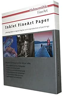 """Hahnemuhle Pearl Photo Rag, 100 % Cotton Rag, Natural White Inkjet Paper, 320 g/mA, 11x17"""", 25 Sheets"""