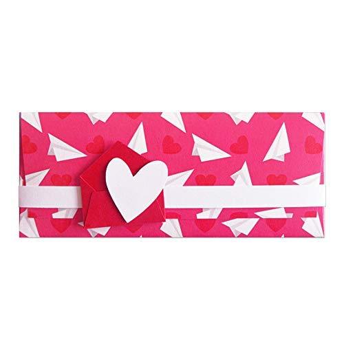 Porta soldi - amore - cerimonie - busta portasoldi (formato 22 x 9,5 cm) + biglietto d'auguri vuoto all'interno - ideale per il tuo messaggio personale - realizzato interamente a mano.