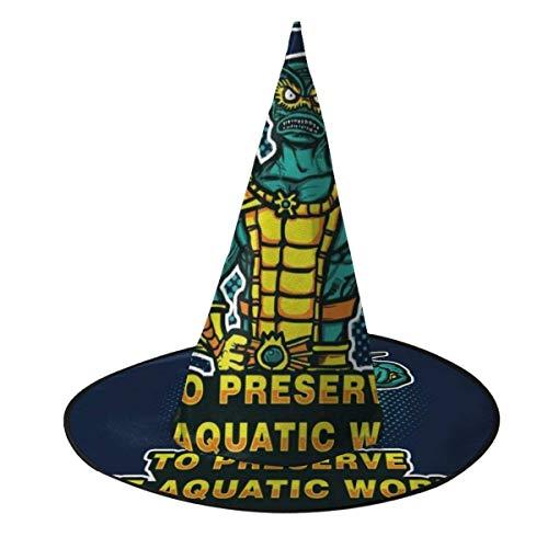Sombrero de Halloween Preserve Mer Man Masters del Universo Sombrero de Bruja Disfraz Unisex de Halloween para Vacaciones Fiesta de carnavales de Navidad de Halloween