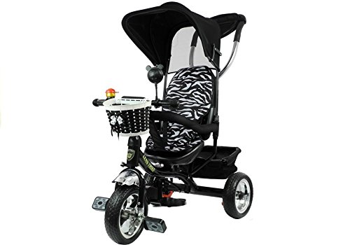 Lean Toys Triciclo para niños, color negro