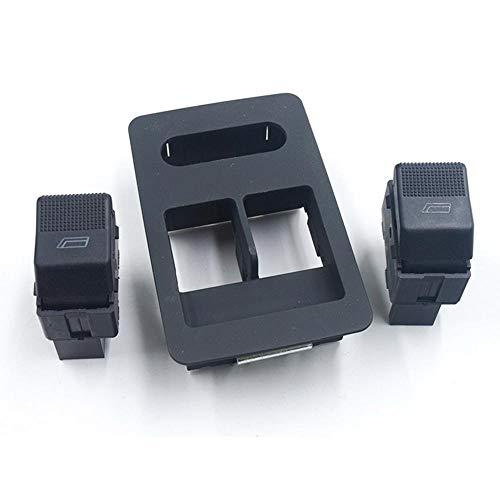 SHOUNAO Fit for Seat Cordoba Ibiza VW Volkswagen Lupo Polo Fensterheber-Schalter Einzel Console Button Panel Abdeckung 6X0 959 855B / 6X0959855B (Color : Black Set)