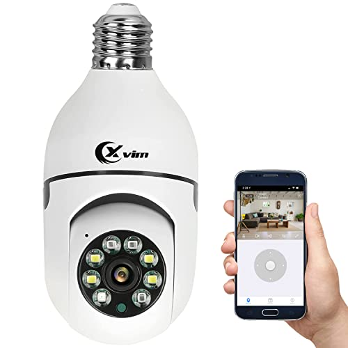 XVIM 1080P WiFi Home Security Bulb Light Camera...