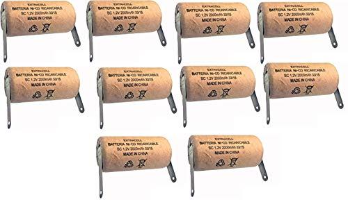 Kit 10 Batterie Ni-CD SC 1,2V 2000mah Cartonate