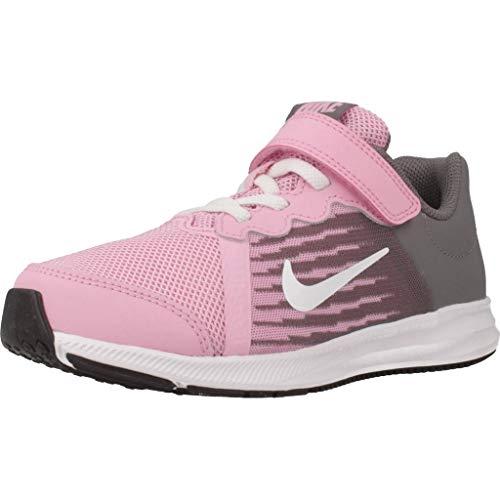 Nike Mädchen Downshifter 8 (PSV) Leichtathletikschuhe, Mehrfarbig (Pink Rise/White/Gunsmoke/Black 602), 27.5 EU