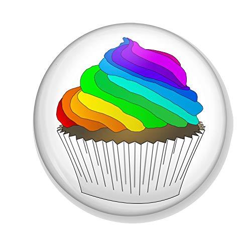 Generic Gifts & Gadgets Co. Kühlschrankmagnet aus Metall mit Aufdruck You Don't Have to Be Straight to Enjoy A Cupcake, rund, 50 mm