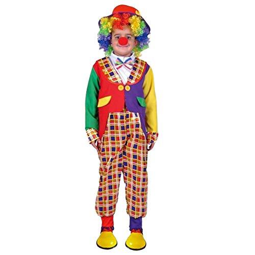 Carnavalife, Disfraz Completo de Payaso para Fiesta de Halloween. Fiesta de Disfraces de Miedo, Fiesta Temática, Navidad o Carnaval. Para Niño. Talla 4-6 años.