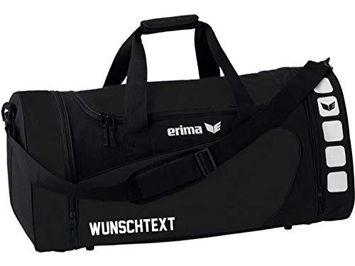 Erima Sporttasche, schwarz/Schwarz, M, 46 Liter (mit Aufdruck)