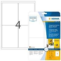 HERMA 8019透明クリスタルクリアA4 99、1 x 139 mm透明クリアフィルム、光沢100個入り。