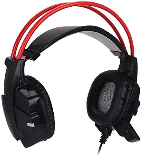 Stereo Gaming Headset for PS4 PC 3 5mm Noise Cancelling Over Ear Headphones with Mic Soft Memory Earmuffs for Laptop/PC/for PS3/for PS4 Games