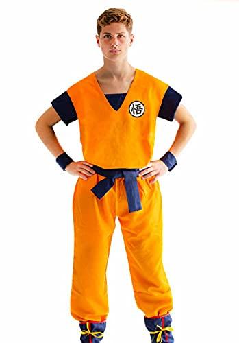 CoolChange Cosplay Kostüm von Son Goku mit GO Zeichen | Saiyajin Verkleidung | Größe: M