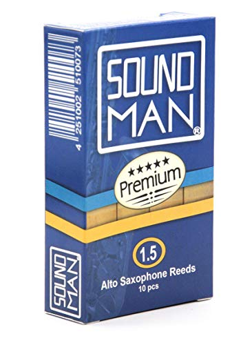 10 Ance Soundman per Sassofono Alto (durezza: 1,5) Saxophone Reeds Ancia