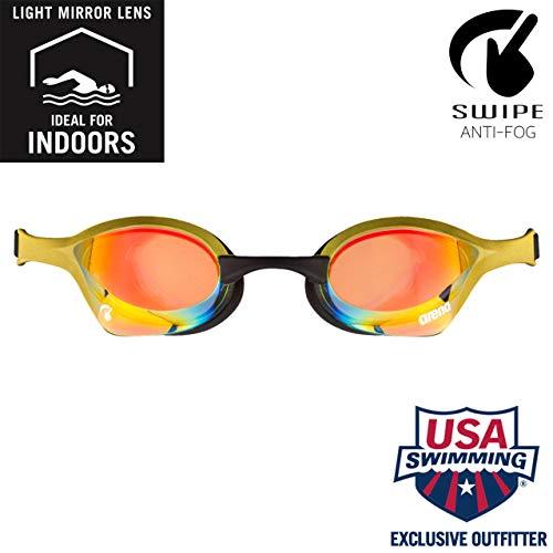 Arena Cobra Ultra Gafas de natación, gafas de natación competitivas profesionales para hombres y mujeres con puente nasal intercambiable, lo mejor para triatlones interiores y exteriores y natación en el regazo