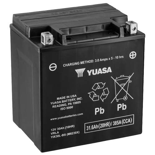 Batteria YUASA Yix30l-BS, 12V/30ah (dimensioni: 166X 126X 175) per Harley Davidson flhtci...