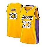 HANHJ Camiseta De Baloncesto para Hombre-Lebron James- Lakers # 23 Jersey, Ropa Deportiva, Camiseta Sin Mangas Unisex Camiseta De Baloncesto Swingman De Malla Bordada