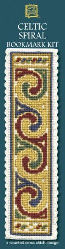 Textile Heritage Counted Cross Stitch Bookmark Kit - Celtic Spiral Cream