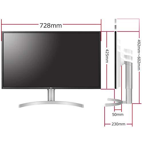 LGモニターディスプレイ32UL750-W31.5インチ/4K/DisplayHDR600/VA非光沢/USBType-C、DP、HDMI×2/スピーカー/FreeSync/高さ調節