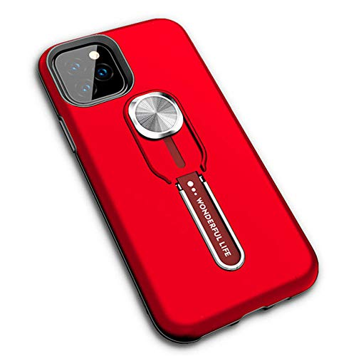 SJKDM Caja del teléfono móvil Fundas de teléfono para iPhone 11 5.8 iPhone XS MAX Funda de Silicona Hard Armor Stand Car Cover para iPhone XI 2019 XR XS X 6 7 8 Plus Funda para iPhone XR-3