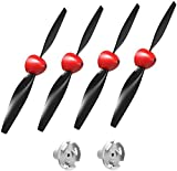 VOLANTEXRC 4 Sets Propeller with red Nose and 2pcs Propeller Saver Shaft Adaptor for Remote Control Airplane 761-5