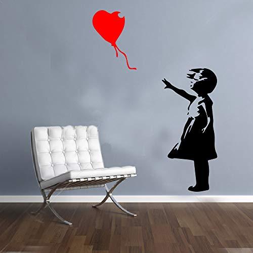 G Direct Wandaufkleber Banksy Mädchen mit Ballon, Graffiti, Vinyl