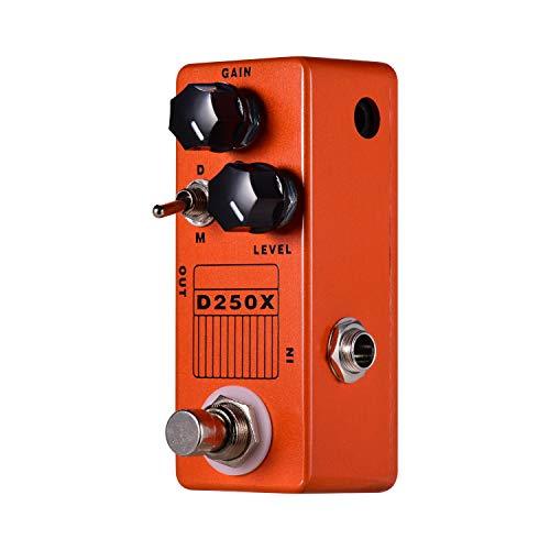 Muslady D250X Mini-E-Gitarren-Overdrive-Vorverstärker-Effektpedal 2 Modelle Full Metal Shell True Bypass MOSKY