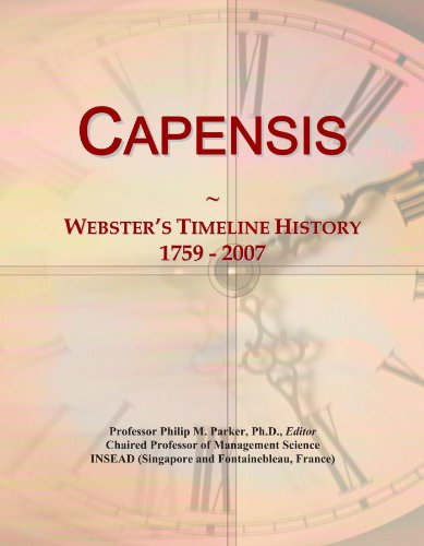 Capensis: Webster's Timeline History, 1759 - 2007