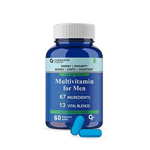 Carbamide Forte Multivitamin for Men for Immunity & Energy with 67 Ingredients  Multi Vitamins, Minerals, Probiotics, Superfoods, Fruits & Vegetable Blend– 60 Veg Tablets