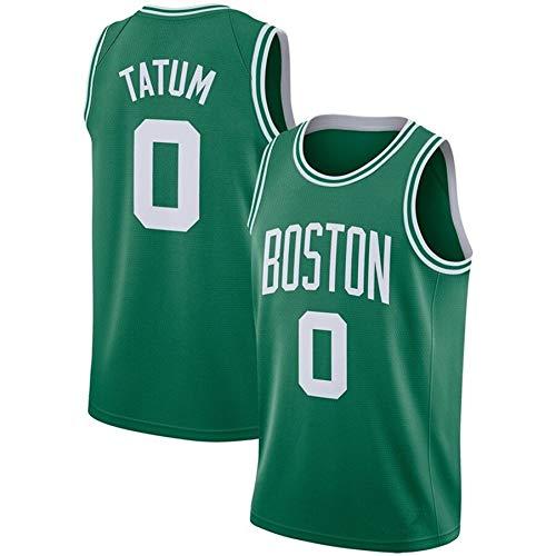ZeYuKeJi Hombres Camiseta de la NBA Celtics Nueva Jersey # 0 Tatum Malla de Baloncesto Retro de edición Conmemorativa de Baloncesto Camiseta sin Mangas (Color : Green, Size : XL)