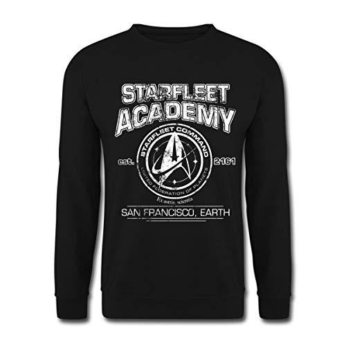 Star Trek Discovery Starfleet Collège Sweat-Shirt Unisexe, XXL, Noir
