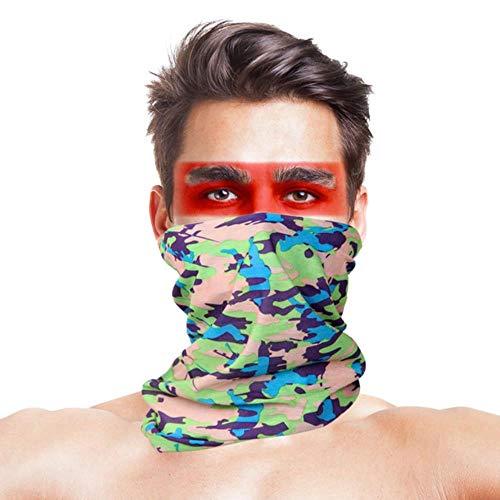 Hochsprung Multi Wear Schal Männer Frauen Bandanas 100{f90607be5331224ccd0e35fc956a6958380c52ca85c7138f5ebbf5431a0a5959} Polyester Military Camouflage Gesichtsmaske Winddichte Halswärmer Stirnband Schals, 038