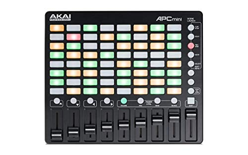 AKAI Professional APC Mini - Kompakter USB Bus Powered 64 Button Clip Launcher für Ableton Live