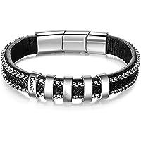Personalized Men Black Braid Names Bracelet for Free