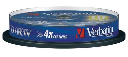 Verbatim DVD+RW 4X 4,7GB 10er Spindel DVD-Rohlinge