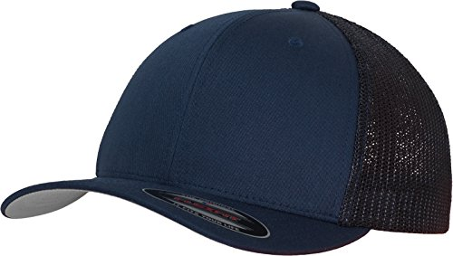 Flexfit Mesh Trucker Kappe, blau (Navy), S/M