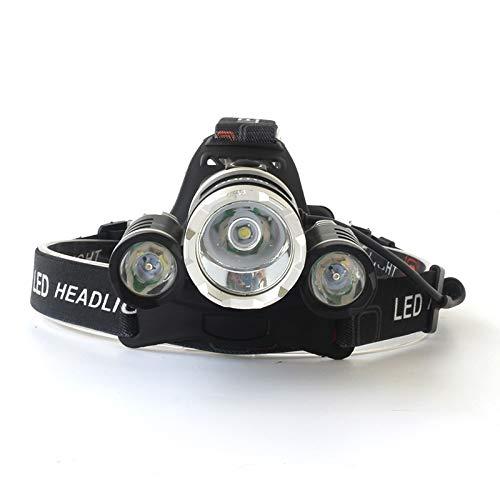 Hehuanxiao - Linterna frontal LED 8000 lm T6 LED faros delanteros 9000 lm, linterna frontal linterna frontal