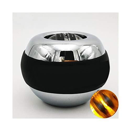 LED Auto-Start-Power-Handgelenk-Kugel Metall Muskeltraining Druck entlasten Fitness Gyroskop Exerciser Kraft stärken Kugel (Color : Orange)