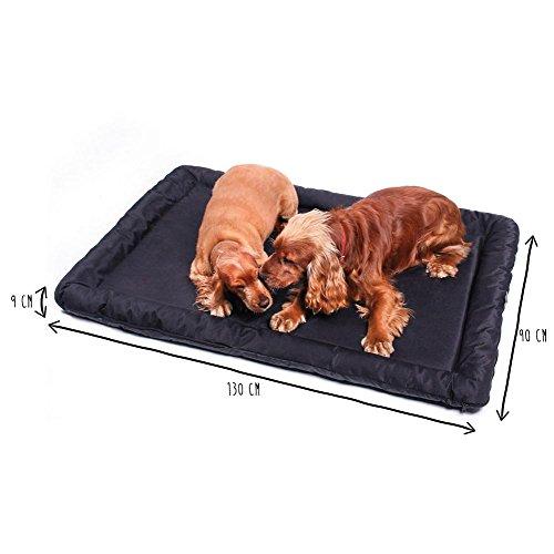 ANIMALY hondenbed waterdicht en krasbestendig, hondenkussen geschikt voor gebruik buitenshuis, wasbare anti-slip hondendeken, ook geschikt als kattenbed, hondenmat zwart XL