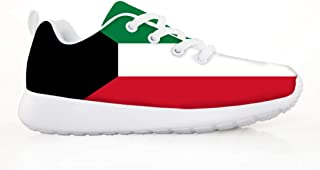 Owaheson Boys Girls Casual Lace-up Sneakers Running Shoes Zambia Flag
