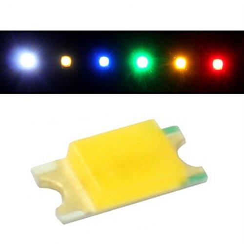 50x LEDs superbrillantes SMD 1206 Blanco frío 6000K 20mA 2,9V 150…300mcd 120° 3,2x1,6mm