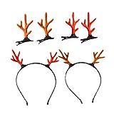 Tomaibaby 6pcs noël renne andouiller bandeau cerf pinces à cheveux cerceaux faon cor coiffe bandeau serre-tête cosplay costume accessoires de cheveux
