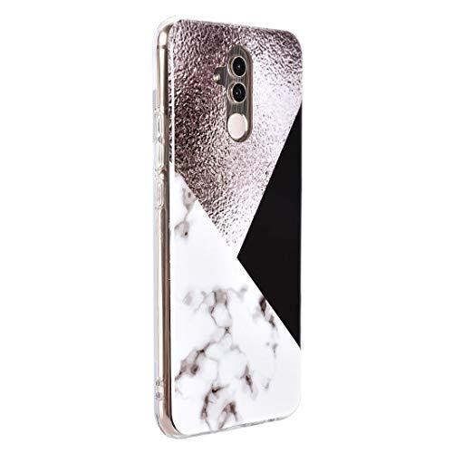 Huawei Mate 20 Lite Marmor Hülle, Huawei Mate 20 Lite Handyhülle, ToMoYi TPU Silikon Marble Bumper Handytasche Flexible Schutzhülle Back Cover Handy Hülle Protective Dünn für Huawei Mate 20 Lite - 3