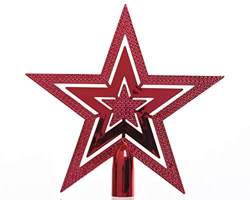 Cimier de sapin Etoile Brillante Rouge
