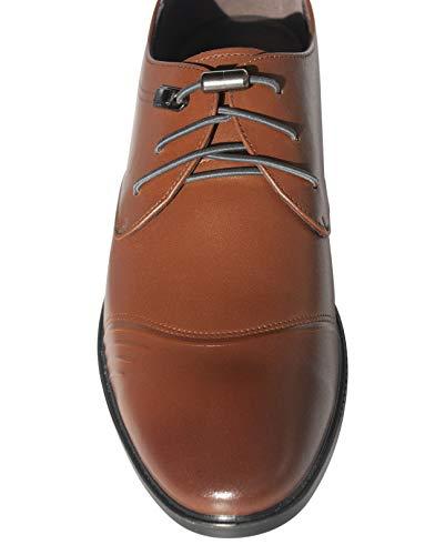 Lorpops (2 Pairs) Premium Elastic No Tie Shoelaces For Dress Shoes (Grey)
